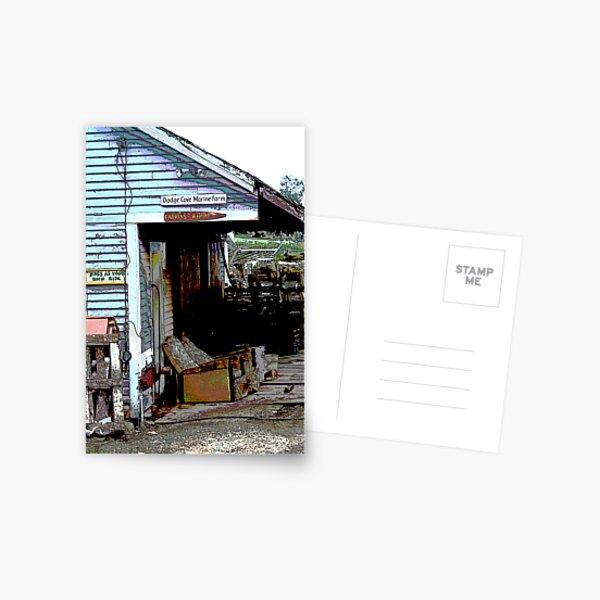Farrin'sWharf, Maine Postcard