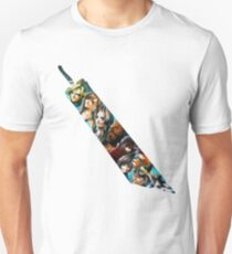 Final Fantasy 7 Buster Sword Cloud, Tifa, Vincent and characters Unisex T-Shirt