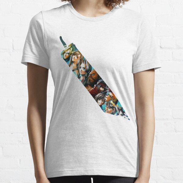 Final Fantasy 7 Buster Sword Cloud, Tifa, Vincent and characters Essential T-Shirt