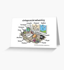 vintage social networking Greeting Card