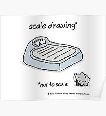 scale drawing Poster