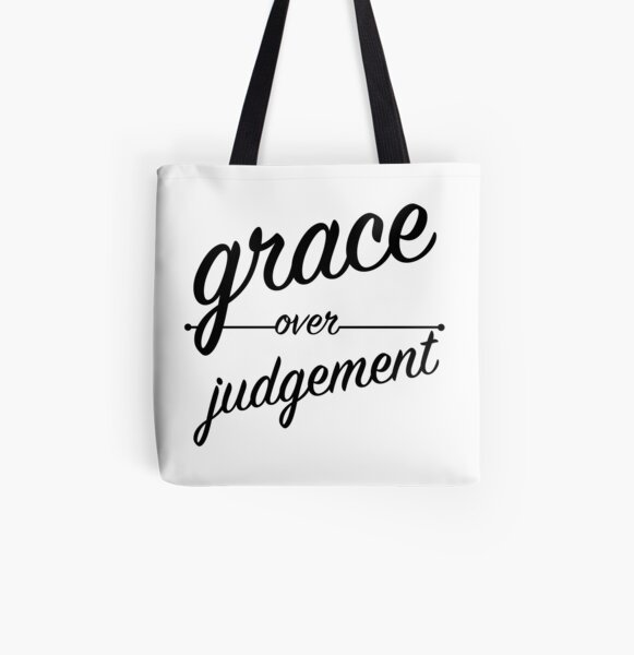 """Grace Over Judgement"" COLOSSIANS 3:13 All Over Print Tote Bag"