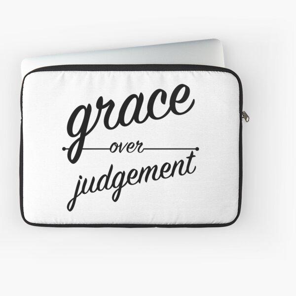 """Grace Over Judgement"" COLOSSIANS 3:13 Laptop Sleeve"