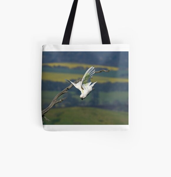 Sulphur-crested Cockatoo  (8212) All Over Print Tote Bag