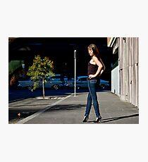 Fashion shot Chloe Jane Street Location Aspect 2 Photographic Print