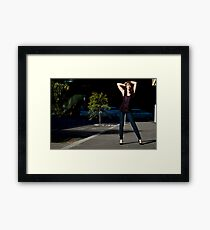 Fashion shot Chloe Jane Street Location Aspect 3 Framed Print