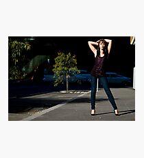 Fashion shot Chloe Jane Street Location Aspect 3 Photographic Print