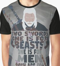 Geralt of Rivia - Silver and Steel Graphic T-Shirt