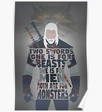 Geralt of Rivia - Silver and Steel Poster