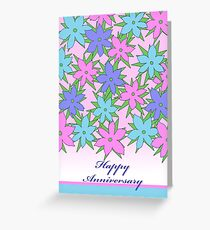 Happy Anniversary, Pastel Colored Flowers Greeting Card