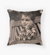 Liam at the Park  Throw Pillow