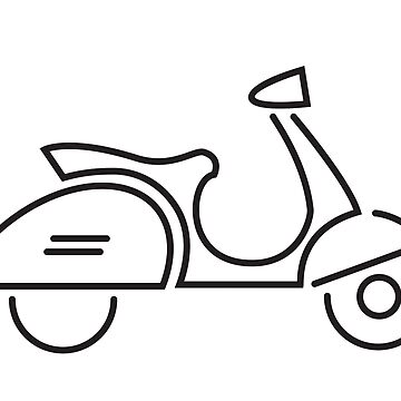 Vespa Scooter Stylised Icon by FuzzyDice