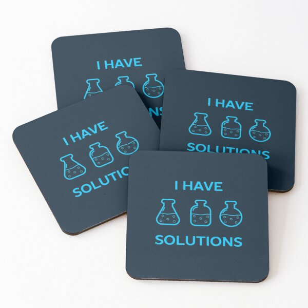 Cool Chemistry Science Pun  Coasters (Set of 4)