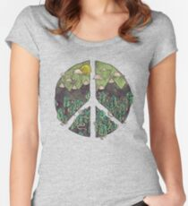 Peaceful Landscape Women's Fitted Scoop T-Shirt