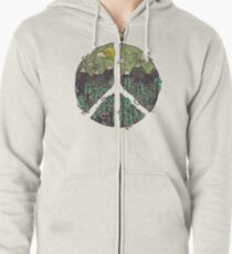 Peaceful Landscape Zipped Hoodie