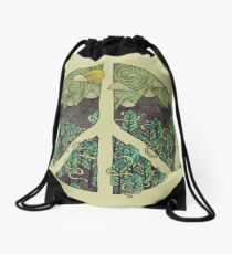 Peaceful Landscape Drawstring Bag
