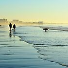 Happiness is our morning walk at the beach... by Poete100