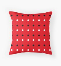 Red edition with 50s Dots Throw Pillow