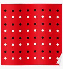 Red edition with 50s Dots Poster