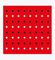 Red edition with 50s Dots Photographic Print