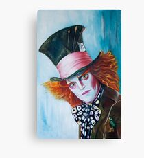The Mad Hatter - Johnny Depp Canvas Print