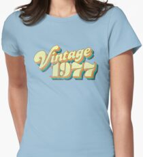 Vintage 1977 - 70s Design 40th Anniversary Womens Fitted T-Shirt