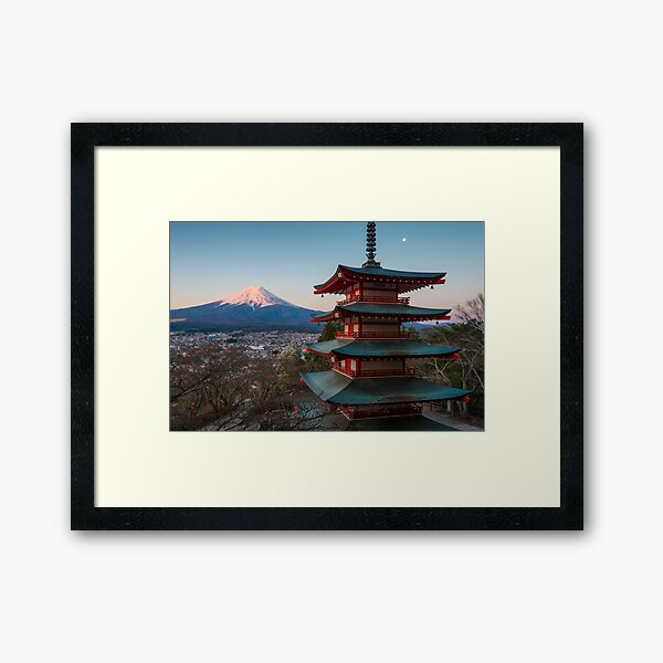 Mount Fuji Sunrise Framed Art Print