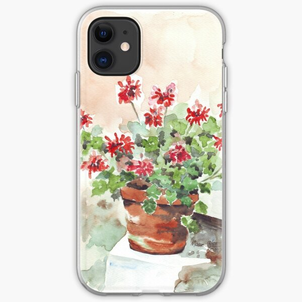 Sweet Geranium iPhone Soft Case