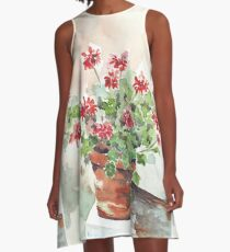 Sweet Geranium A-Line Dress