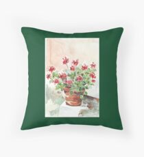 Sweet Geranium Throw Pillow