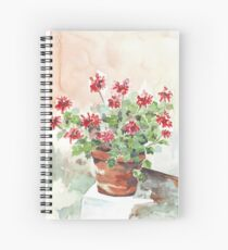 Sweet Geranium Spiral Notebook