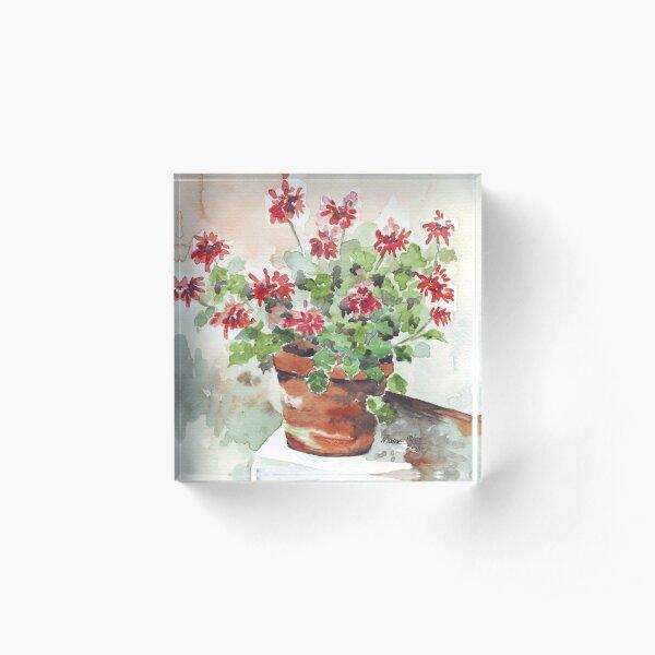 Sweet Geranium Acrylic Block
