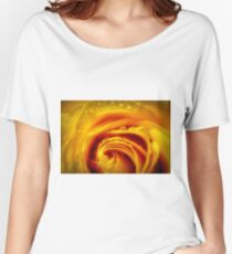 yellow glow rose macro Women's Relaxed Fit T-Shirt