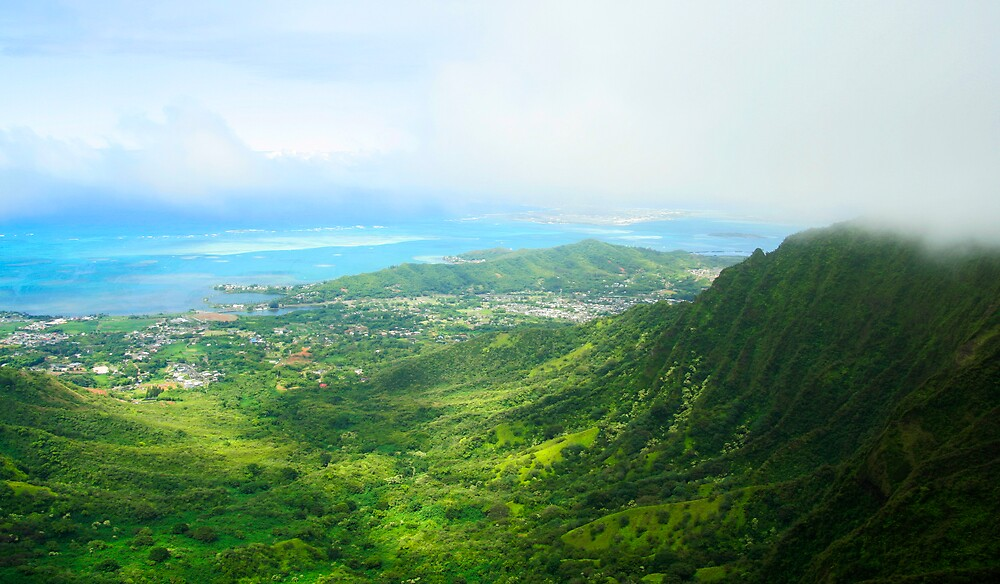 View of Oahu by iceeyes