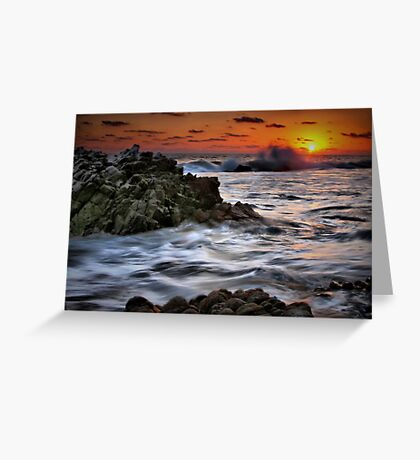 Sunset Seas Greeting Card