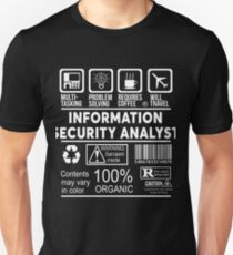 INFORMATION SECURITY ANALYST - NICE DESIGN 2017 Unisex T-Shirt