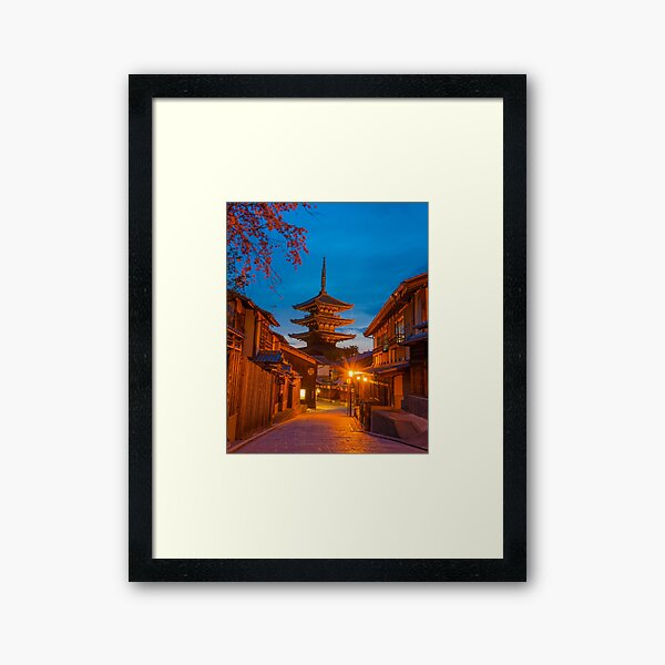 Kyoto At Night Framed Art Print