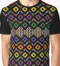 Funky color square Graphic T-Shirt
