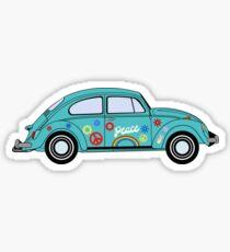 Retro Hippie Car Sticker