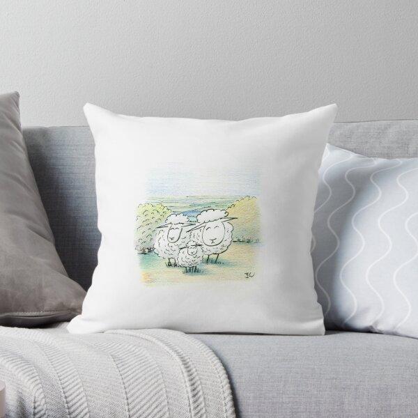 Family Sheep Throw Pillow