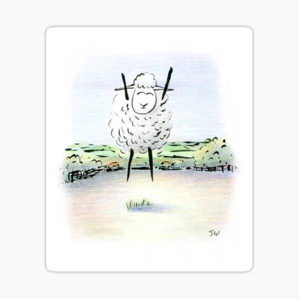 Jubilant Sheep Sticker