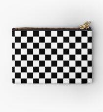 b&w Checkerboard Studio Pouch