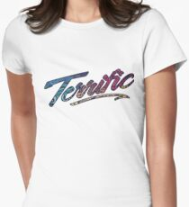 Terrific Lettering Womens Fitted T-Shirt