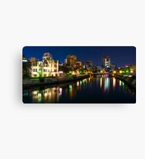 Hiroshima Night Panorama Canvas Print