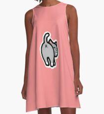 Bitmoji Cat Butt Shirt A-Line Dress