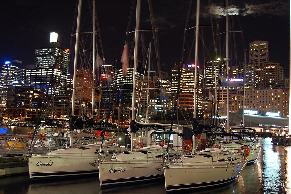 Night Sailboat by Nickey