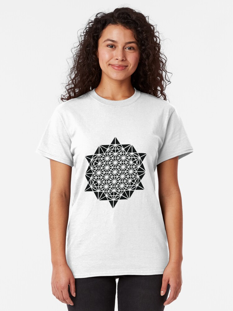 Alternate view of The Base 64 Creation Tee Space Time Merkaba Classic T-Shirt