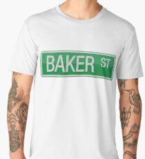 002 Baker Street road sign Men's Premium T-Shirt