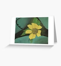 Nature's Yellow Sticky™ Greeting Card