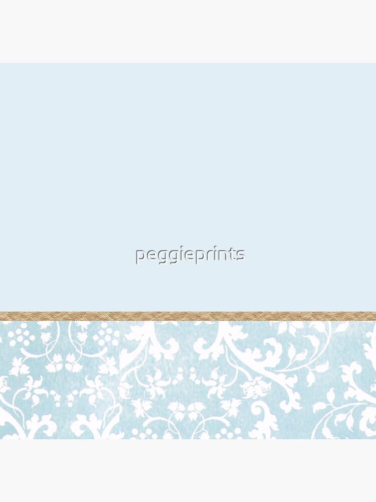 Duck egg blue porcelain floral by peggieprints